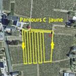 Plan Aerien Course Parcours C Jaune Fluo