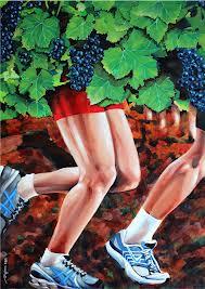 Course dans les vignes